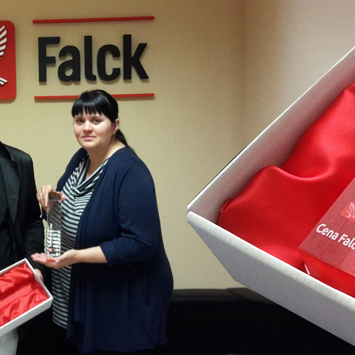 Ocenenia zo skla pre firmu Falck Emergency a.s.  bc8e0cfce80
